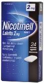 Nicotinell Lakrits 2 mg lääkepurukumi 24 läpipainopakkaus