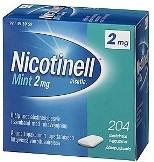 Nicotinell Mint 2 mg lääkepurukumi 204 läpipainopakkaus