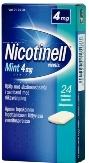 Nicotinell Mint 4 mg lääkepurukumi 24 läpipainopakkaus