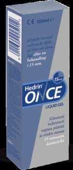 Löytö! Hedrin Once Liquid Gel päätäiden hävittämiseen 100 ml (parasta ennen 01/2020)