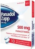 Panadol Zapp 500 mg tabletti, kalvopäällysteinen 10 läpipainopakkaus