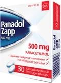 Panadol Zapp 500 mg tabletti, kalvopäällysteinen 30 läpipainopakkaus