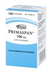 Primaspan 100 mg enterotabletti 100 tabl