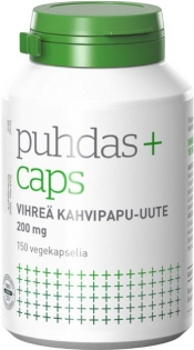 Puhdas+ Caps Vihreä kahvipapu 150 kaps.