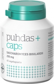 Puhdas+ Caps Saccharomyces boulardii 60 kaps.