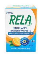 Rela Tabs UUSI Appelsiini + D3  30 tabl.