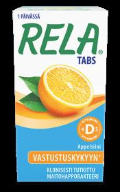 Rela tabs orange maitohappobakteeri +D3 90 tabl.