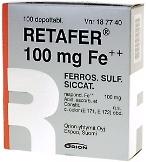 Retafer 100 mg Fe++ depottabletti 100 läpipainopakkaus