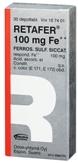 Retafer 100 mg Fe++ depottabletti 30 läpipainopakkaus