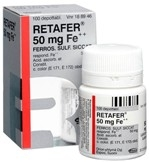 Retafer 50 mg Fe++ depottabletti 100