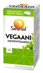 Sana-Sol Vegaani monivitamiini 150 tabl.