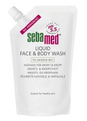 Sebamed Liquid Face & Body Wash 1000 ml täyttöpussi