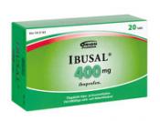 Ibusal 400 mg tabletti, kalvopäällysteinen 20 läpipainopakkaus
