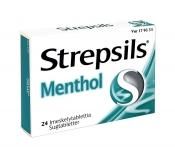 Strepsils Menthol imeskelytabletti 24 läpipainopakkaus