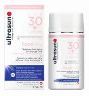 ULTRASUN Face Fluid SPF30 40 ml kevyt aurinkosuojavoide herkälle iholle