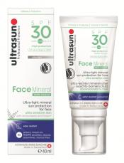 ULTRASUN Face Mineral SPF30 40 ml hypersensitive aurinkosuojavoide kasvoille