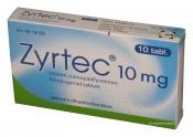 Zyrtec 10 mg tabletti, kalvopäällysteinen 10 läpipainopakkaus